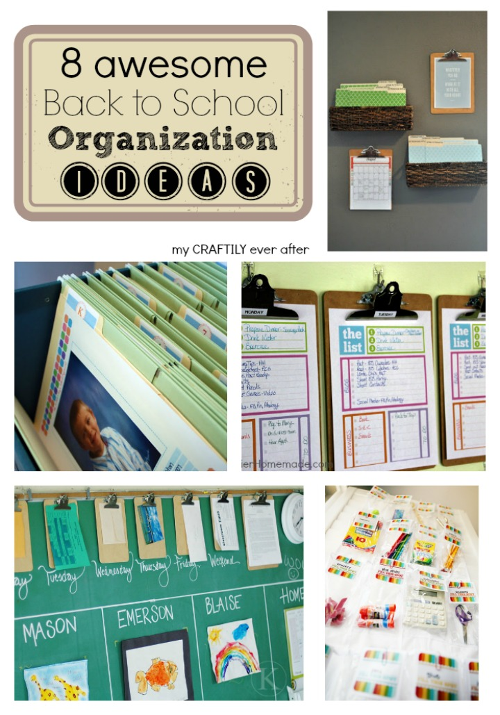 awesome back to school organization ideas my craftily ever after