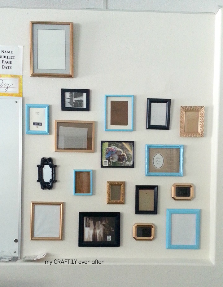 gallery wall in classroom
