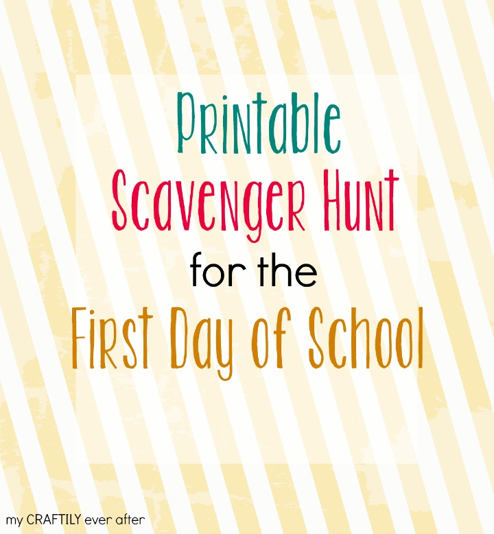 picture regarding Classroom Scavenger Hunt Printable called Printable Scavenger Hunt for the Very first Working day of College - My