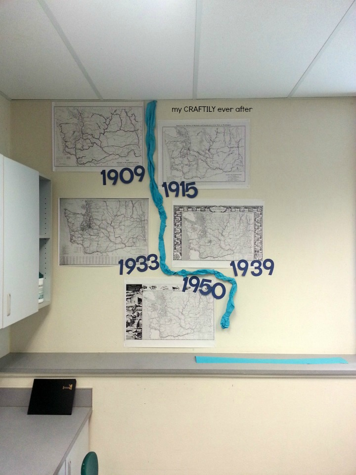 social studies map wall after