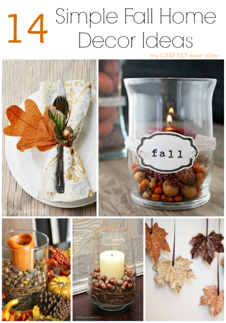 Simple Fall Wreath: 14 Simple Fall Home Decor Ideas