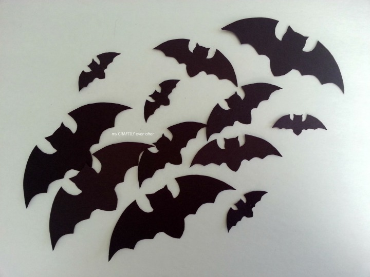 black paper bats cut out