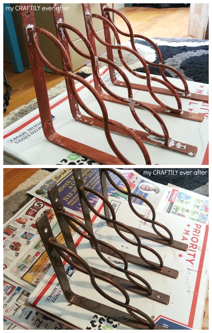 painting brackets for a modern master metal effects look
