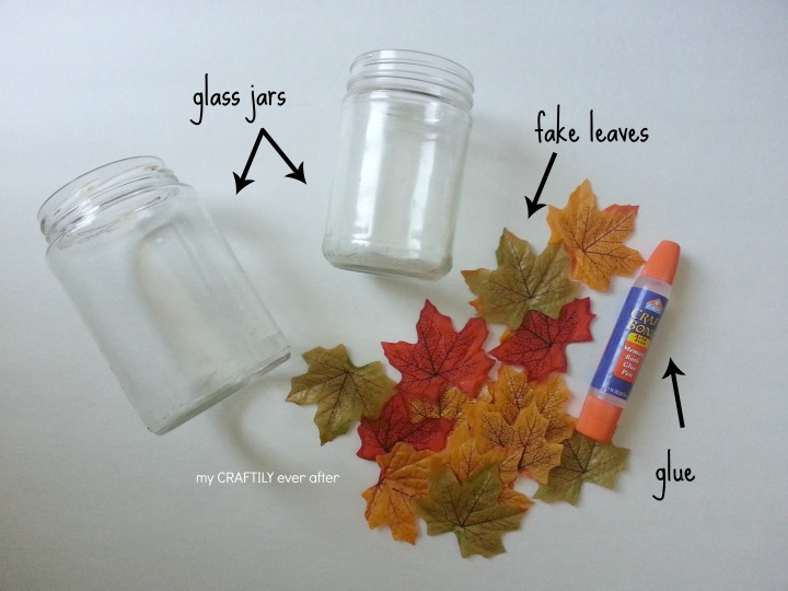 supplies for making leaf candle holders