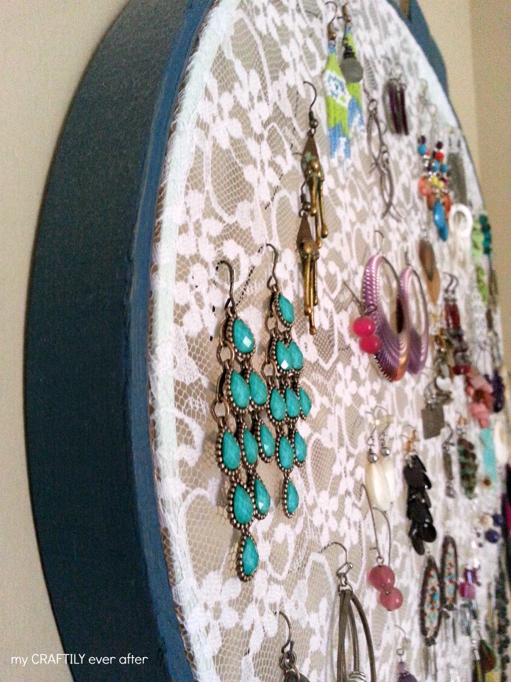 lace hoop earring display