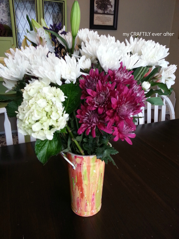 Watercolor Inspired Vase – Drab to Fab Challenge