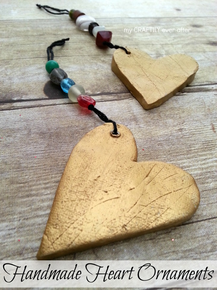 Handmade Heart Ornaments – and a giveaway!