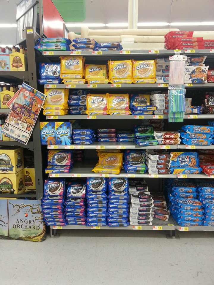 shopping at walmart for #OREOcookieball ingredients