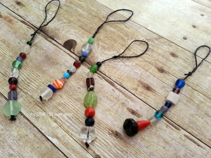 simple beaded ornaments in 15 minutes or less