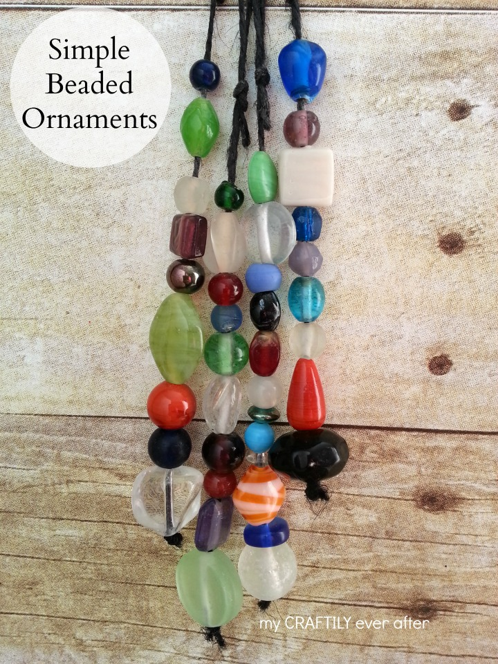 simple beaded ornaments