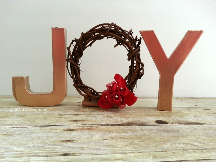 paper mache letters for a holiday display
