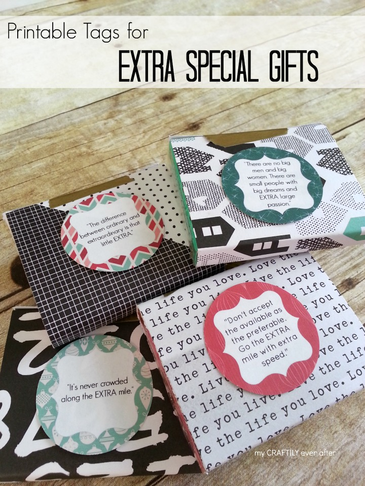 printable tags for extra special gifts #ExtraGumMoments #ad