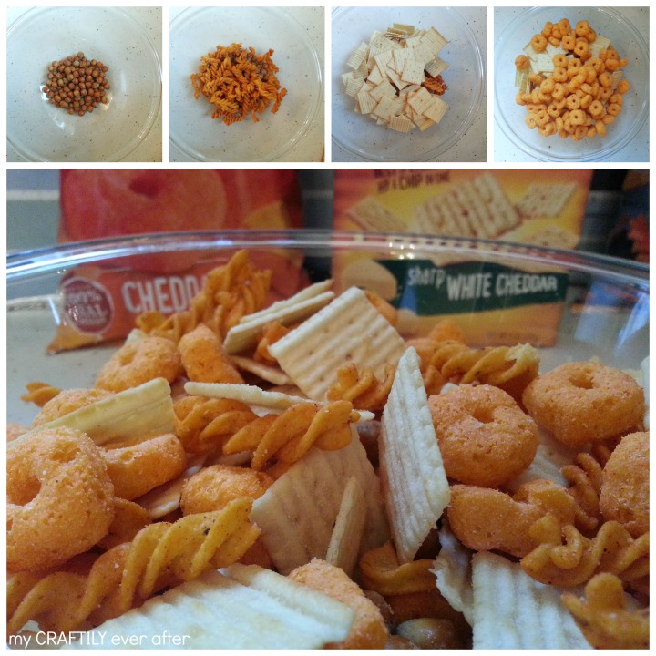 how to make the cheesiest party snack mix ever