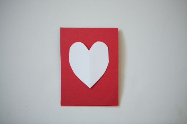 cut out heart for front