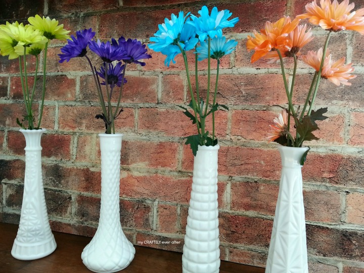 easy floral display in less than 5 minutes for less than $10