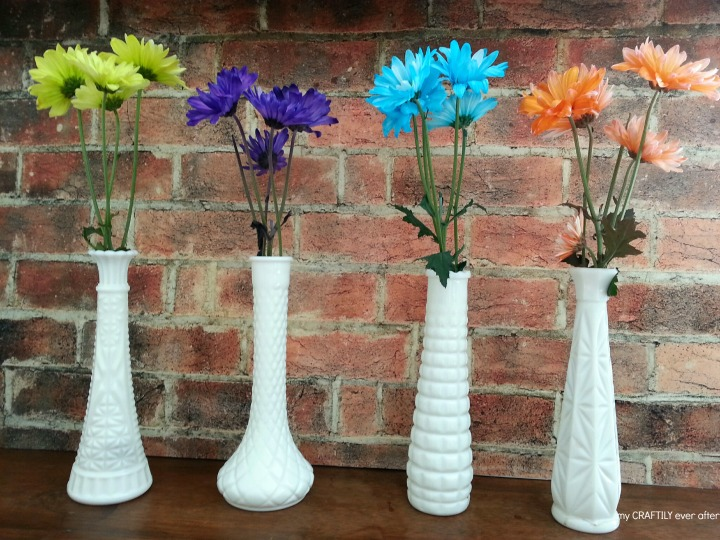 upcycled vases for a simple flower display