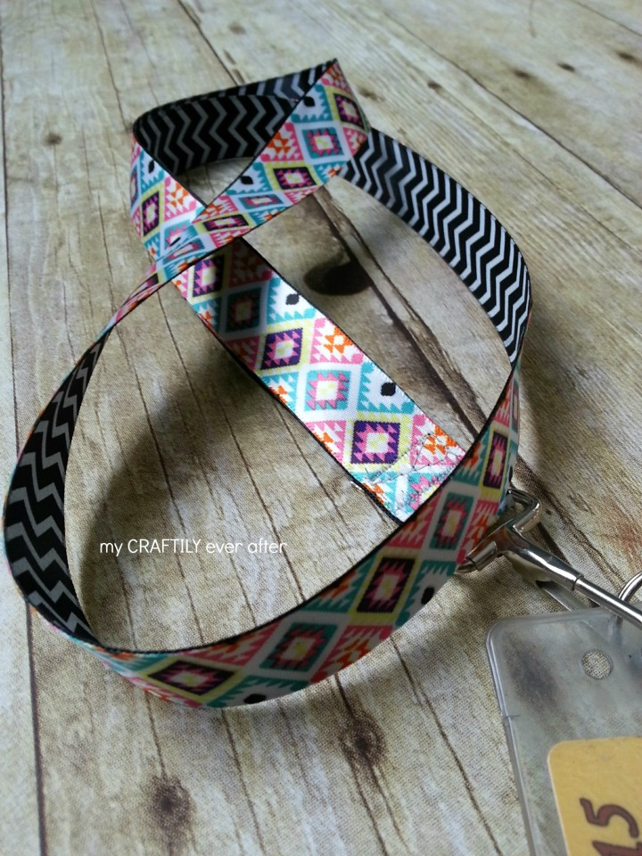 easy 15 minute ribbon lanyard