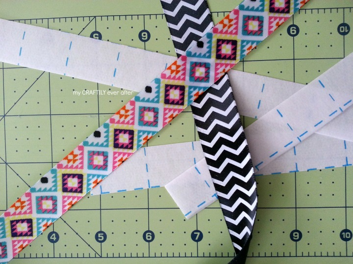 how to make a double sided ribbon lanyard