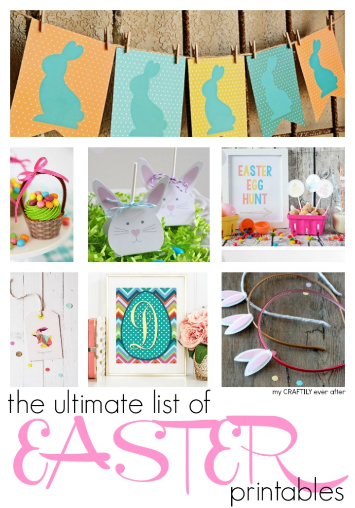 ultimate list of Easter printables found on my craftily ever after