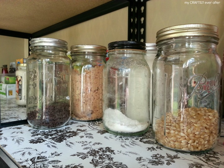 reuse old jars for pantry storage solutions
