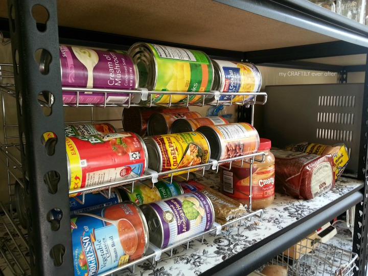 rolling can storage for pantry organization