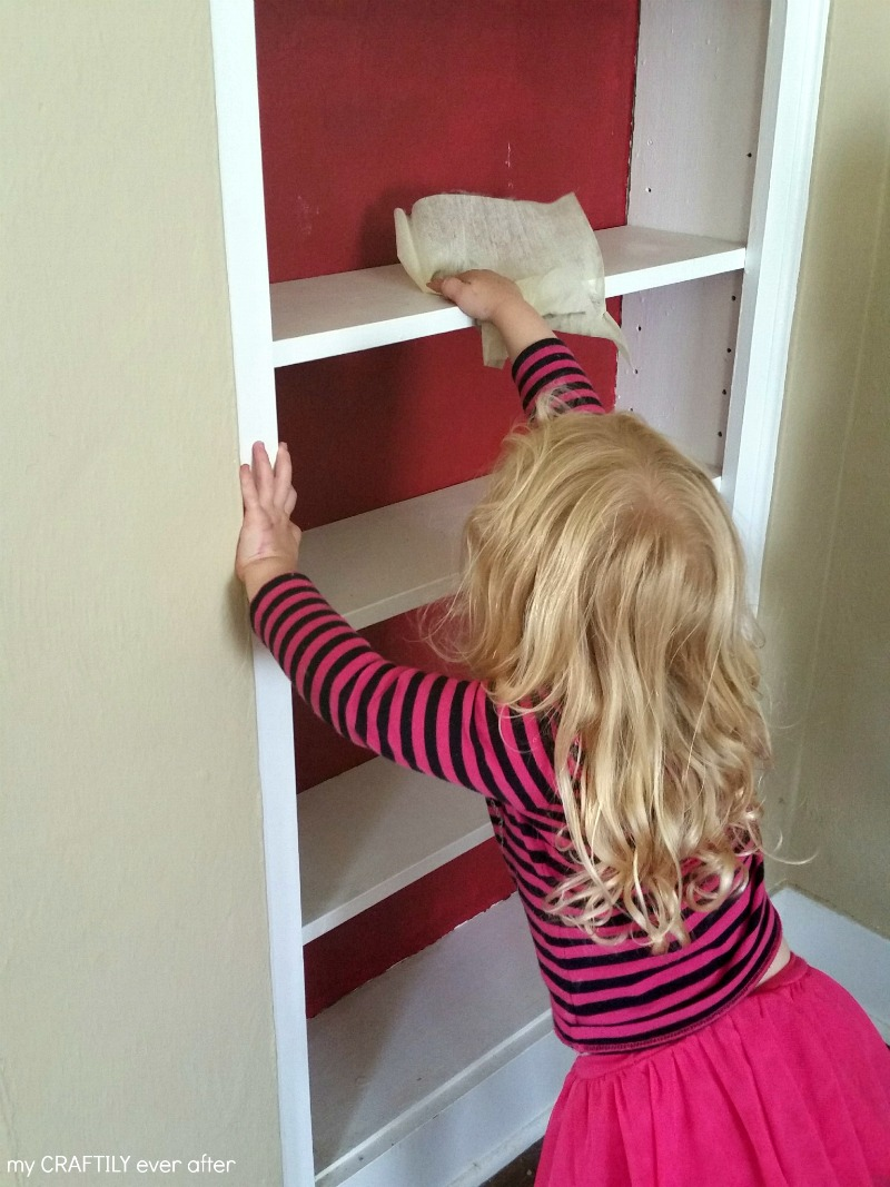 dusting is a great chore for 3 year olds