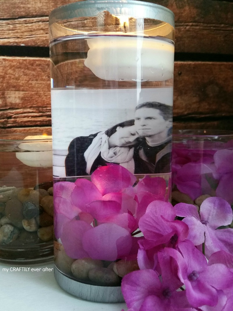 Floating Photo Centerpieces