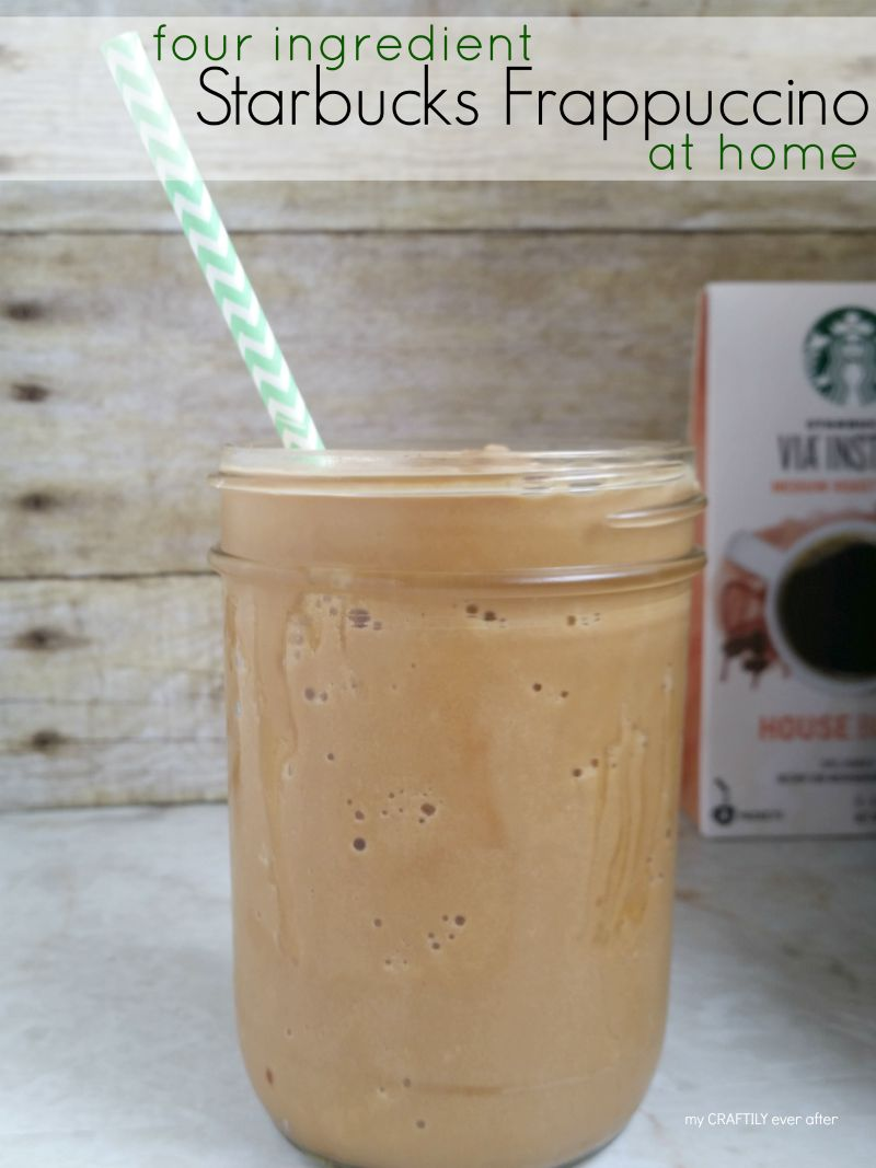 Four Ingredient Starbucks Frappuccino at Home!