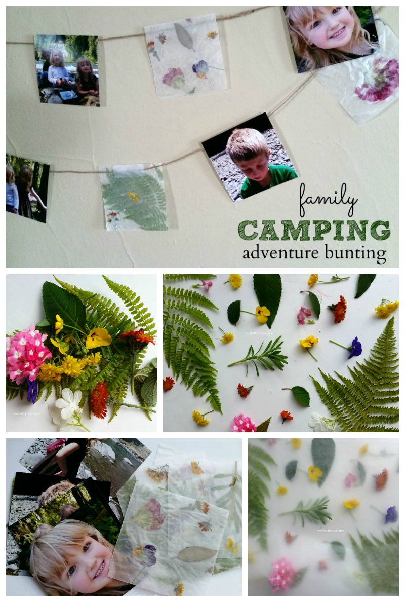 create an easy family camping bunting