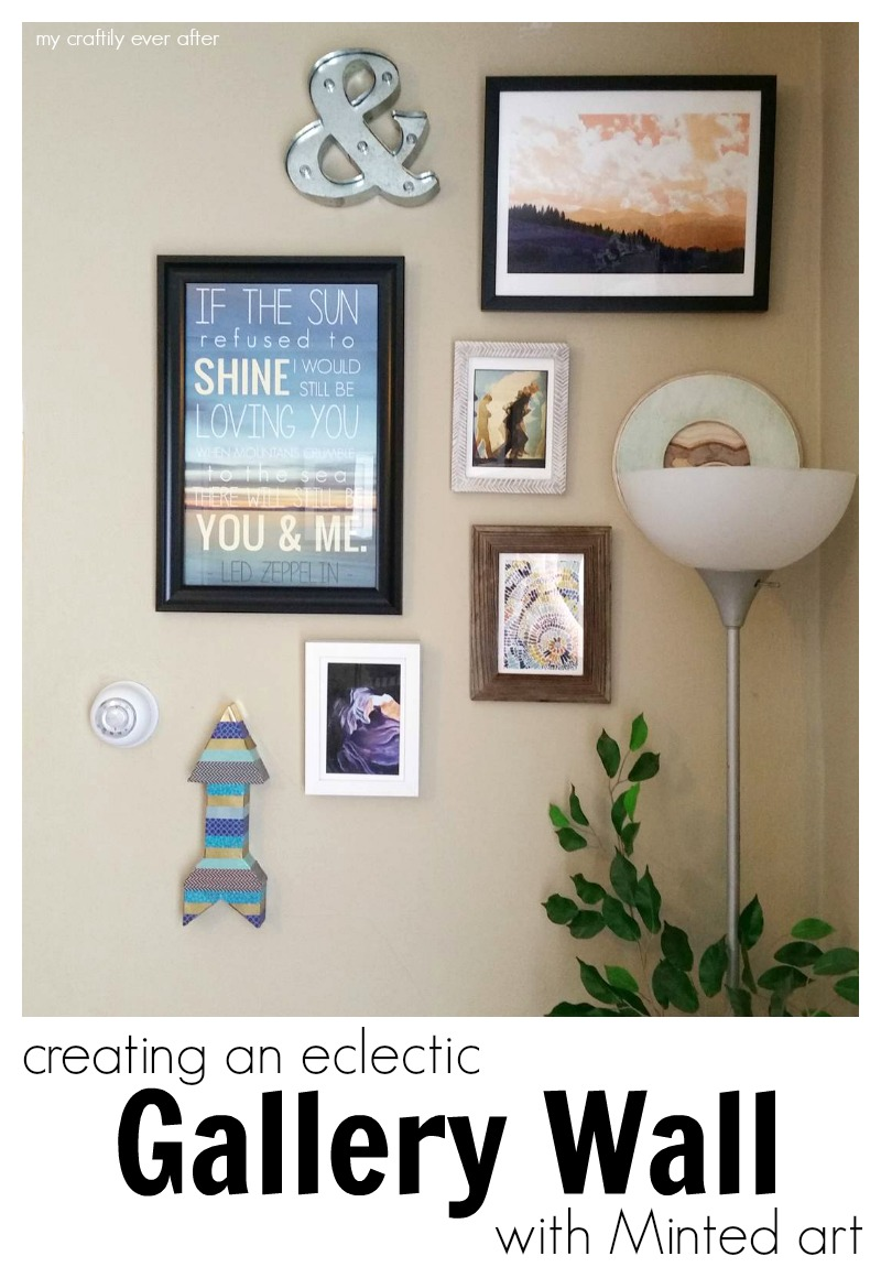 creating an eclectic gallery wall with Minted art