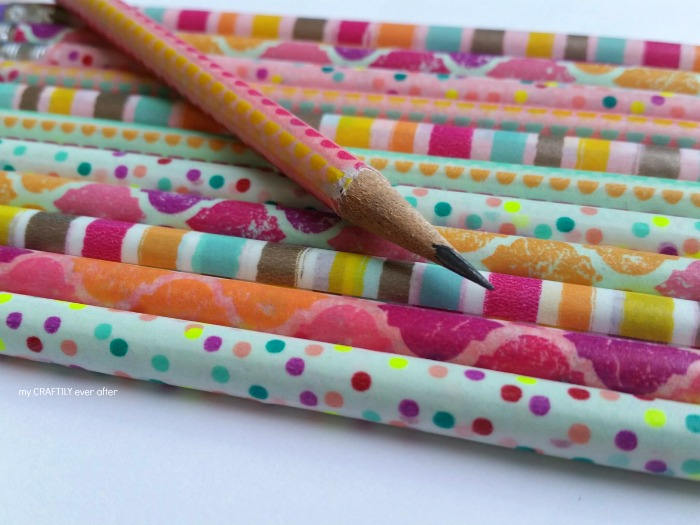 pencils wrapped in wash tape