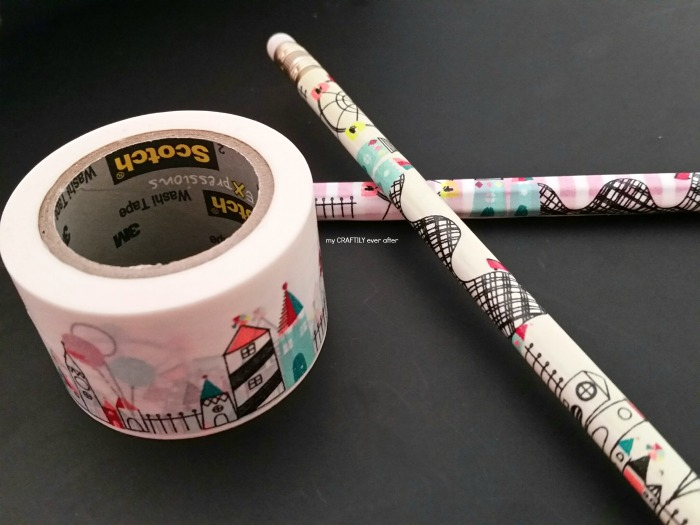 princess washi tape pencils