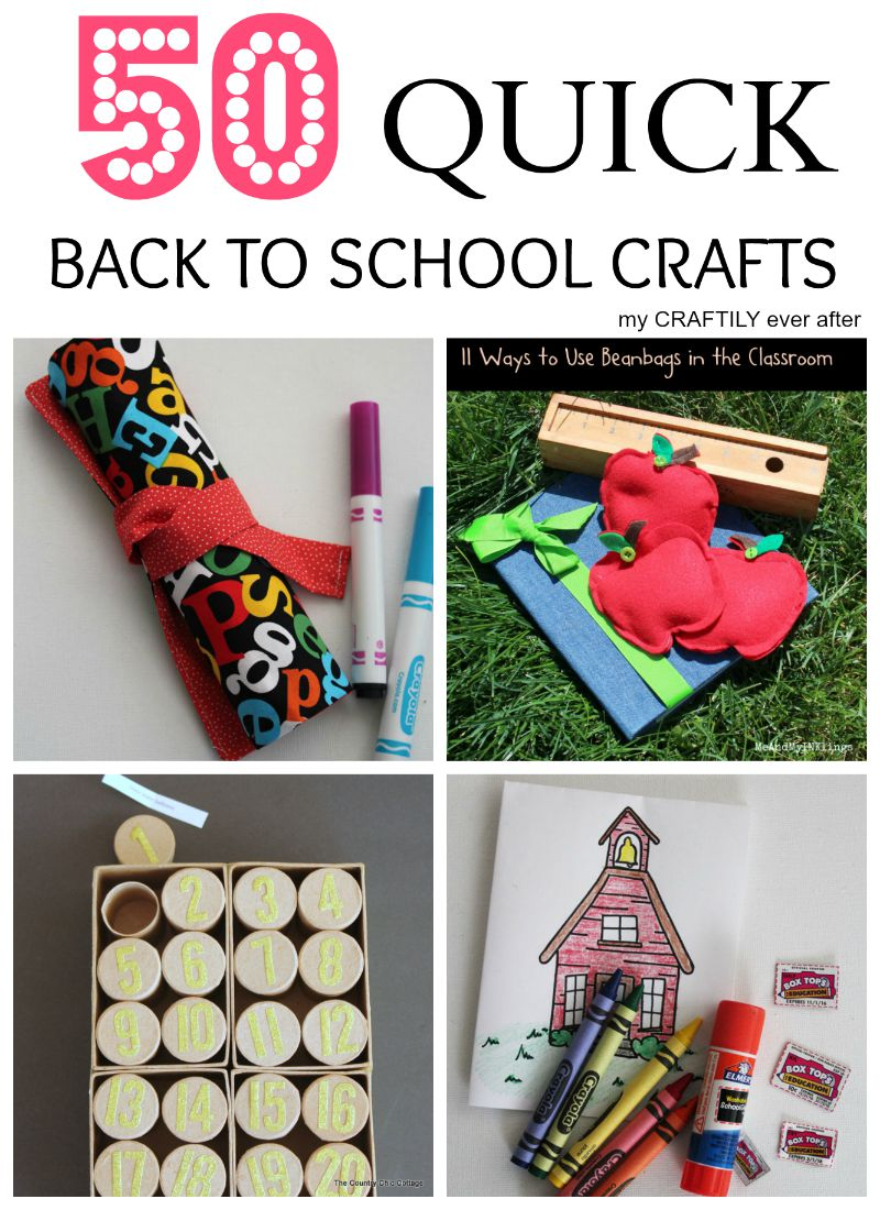 quick back to school crafts