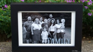 Etched Family Frame 09191