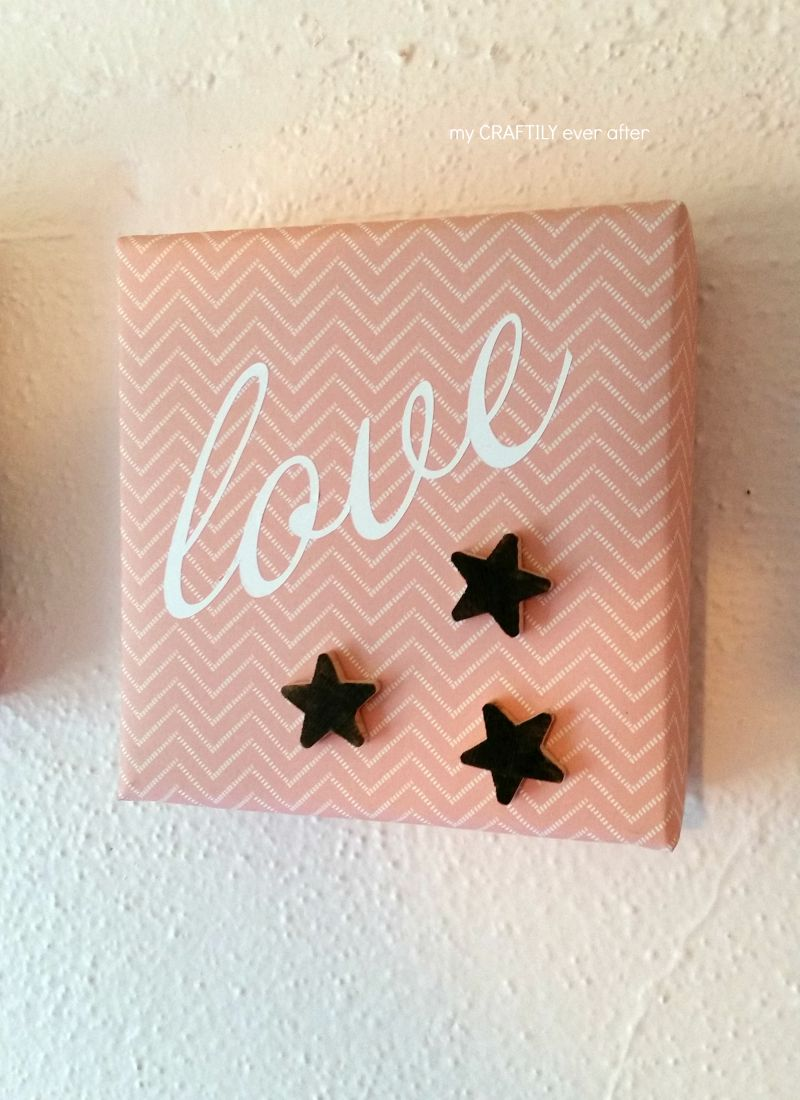 paper canvas with stars