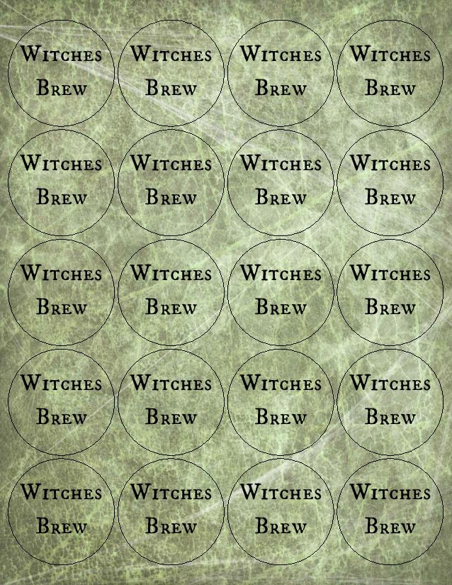 Witchs Brew Party Punch And Printable Drink Labels