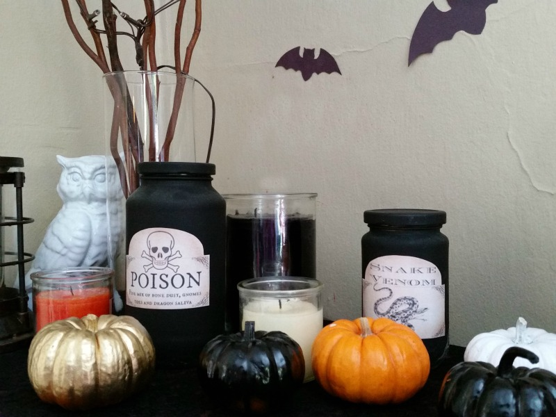candles as part of spooky decor