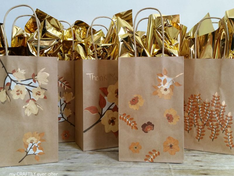 Gold Gilded Gift Bags