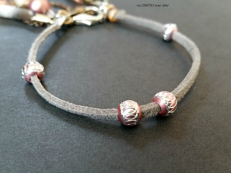 leather cord and beads