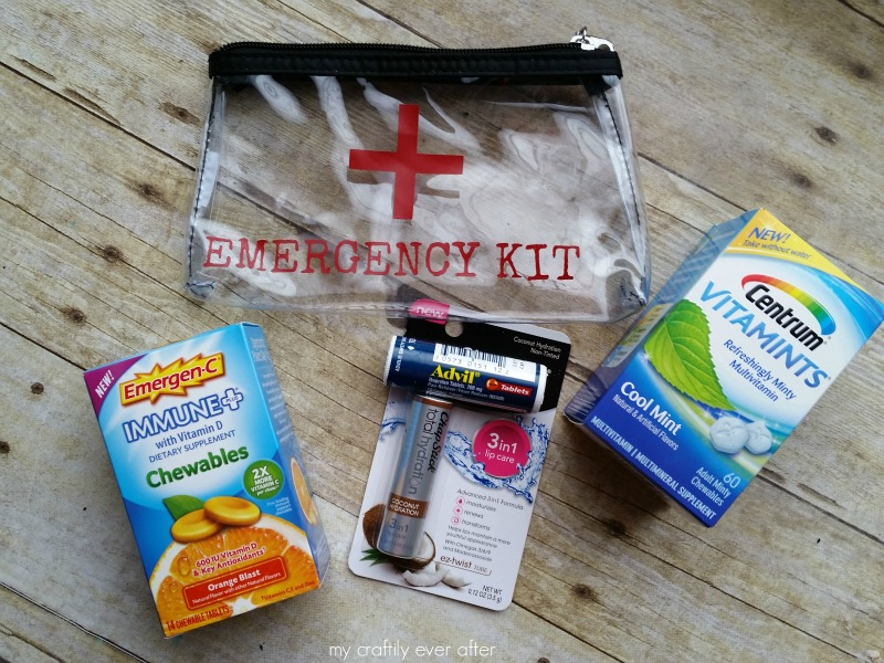 #BeHealthyForEveryPartOfLife #ad emergency travel kit for moms
