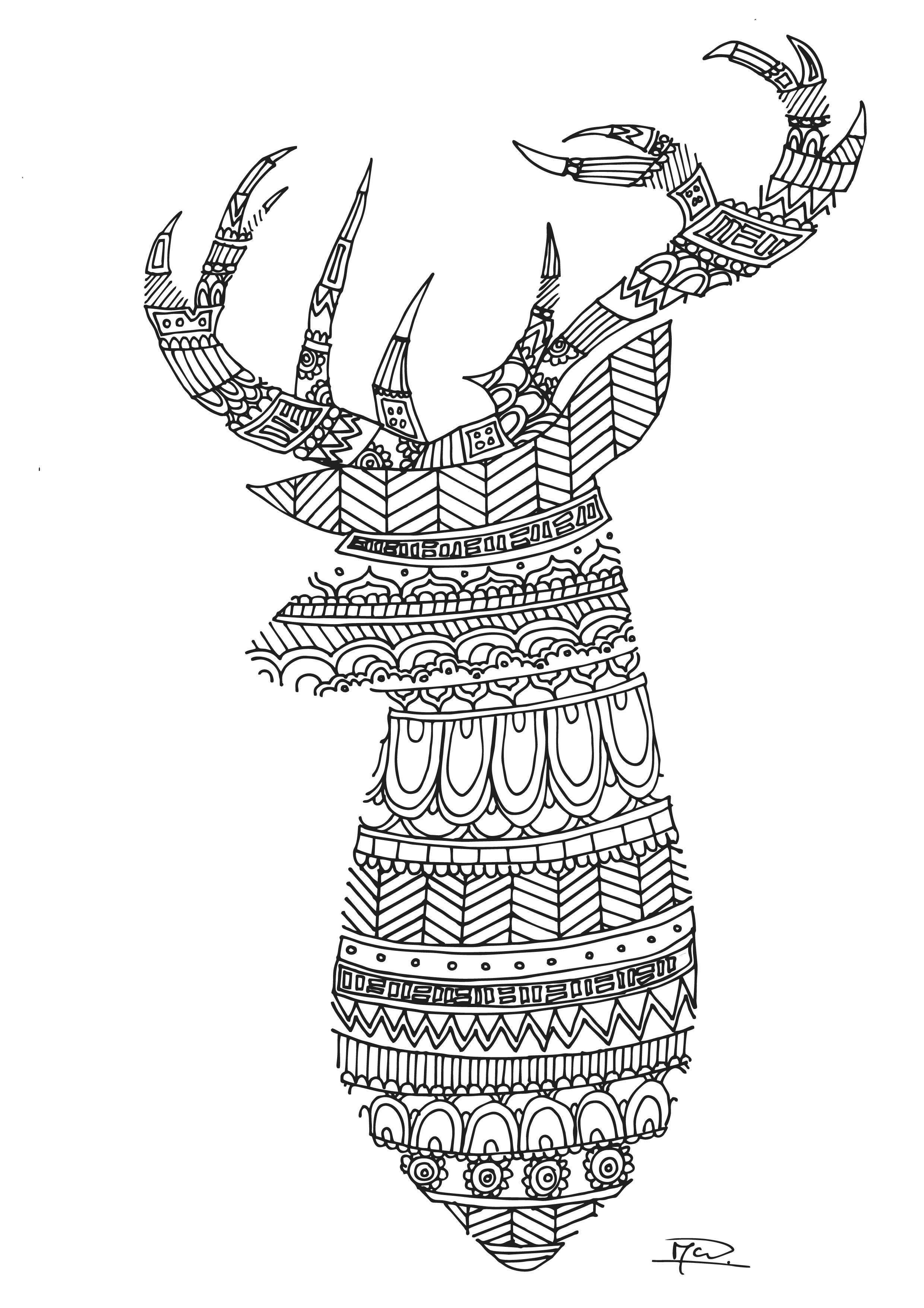 deer coloring pages print - photo#41