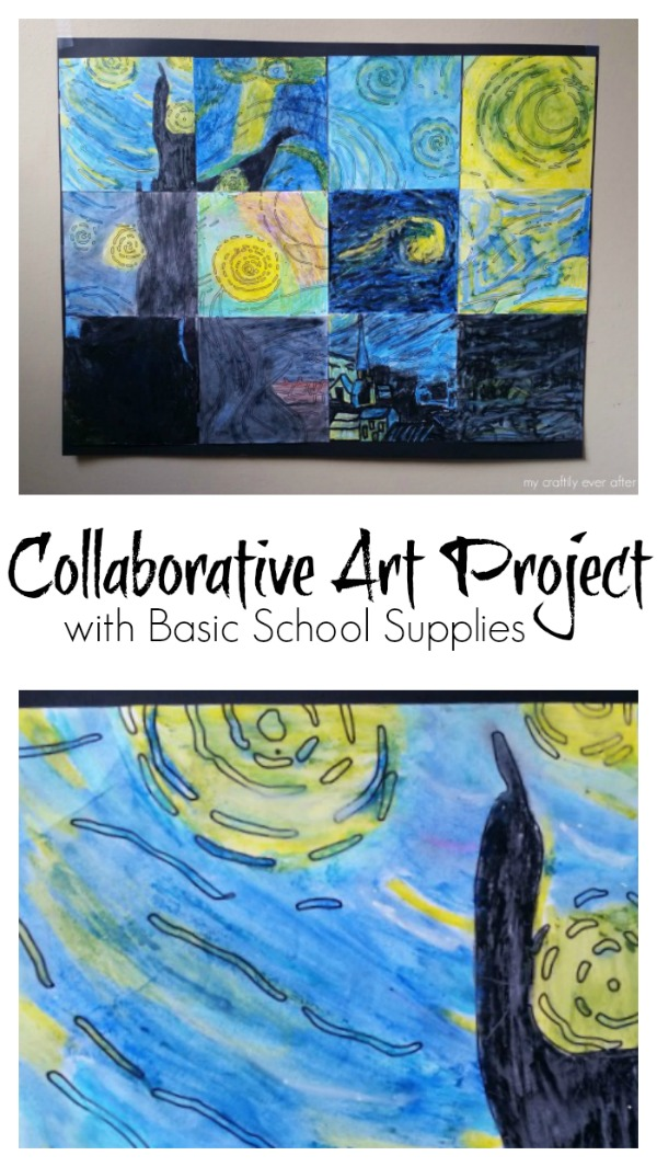 Collaborative Art Project with Basic School Supplies