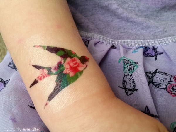 picture about Printable Temporary Tattoos called Printable Floral Non permanent Tattoos - My Craftily At any time When