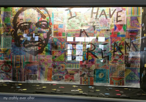 i have a dream mlk collage elementary art