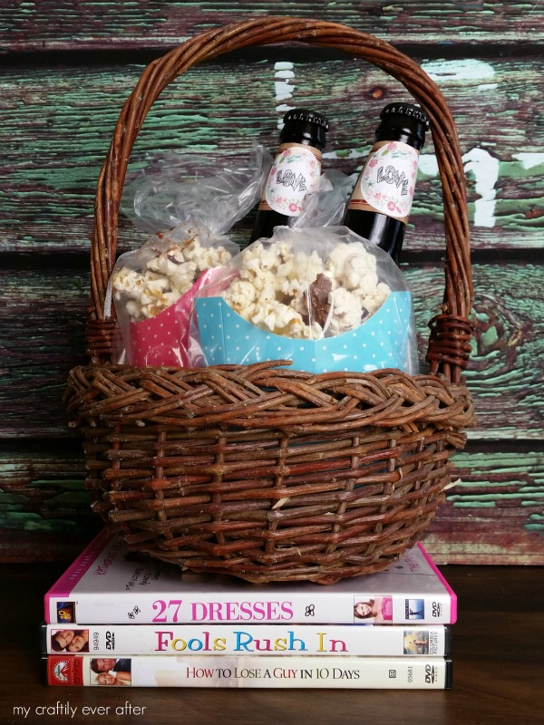 romantic adult valentines basket