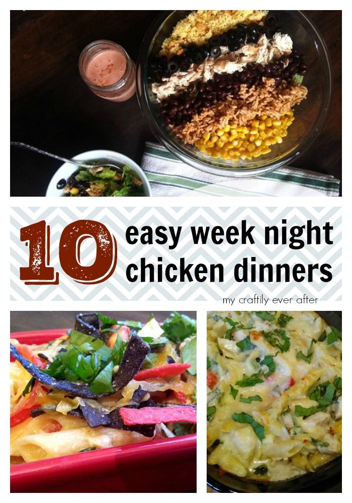 10 easy week night chicken dinners