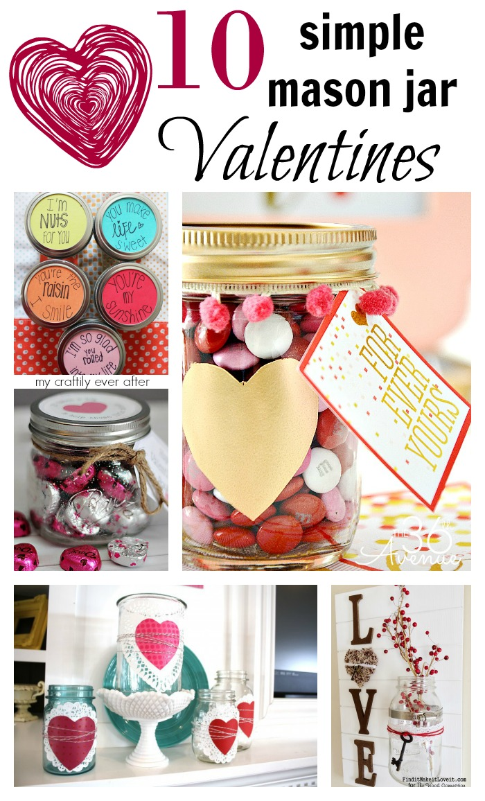 10 simple mason jar valentines