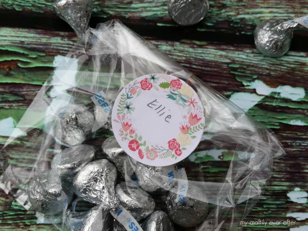 floral treat bag labels