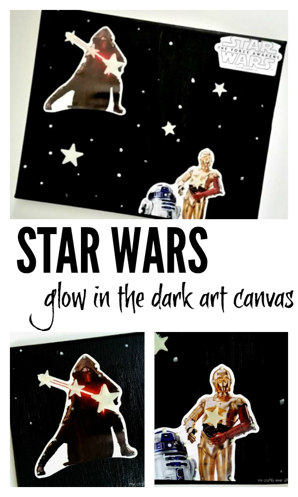 star wars glow in the dark art canvas