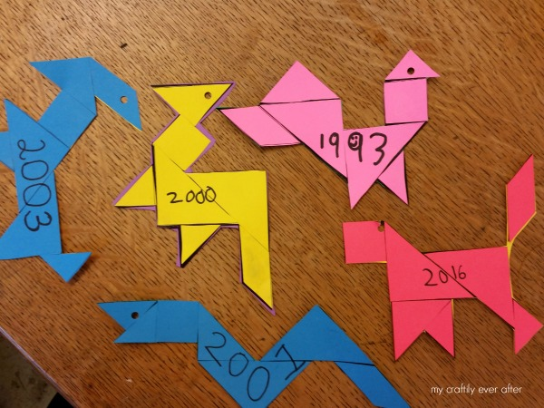 chinese new year tangrams